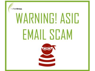 the field group accounting asic email scam