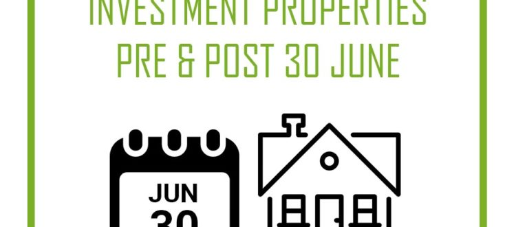 the field group accounting nvestment properties pre and post june 30