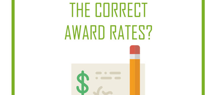 the field group accounting correct award rates