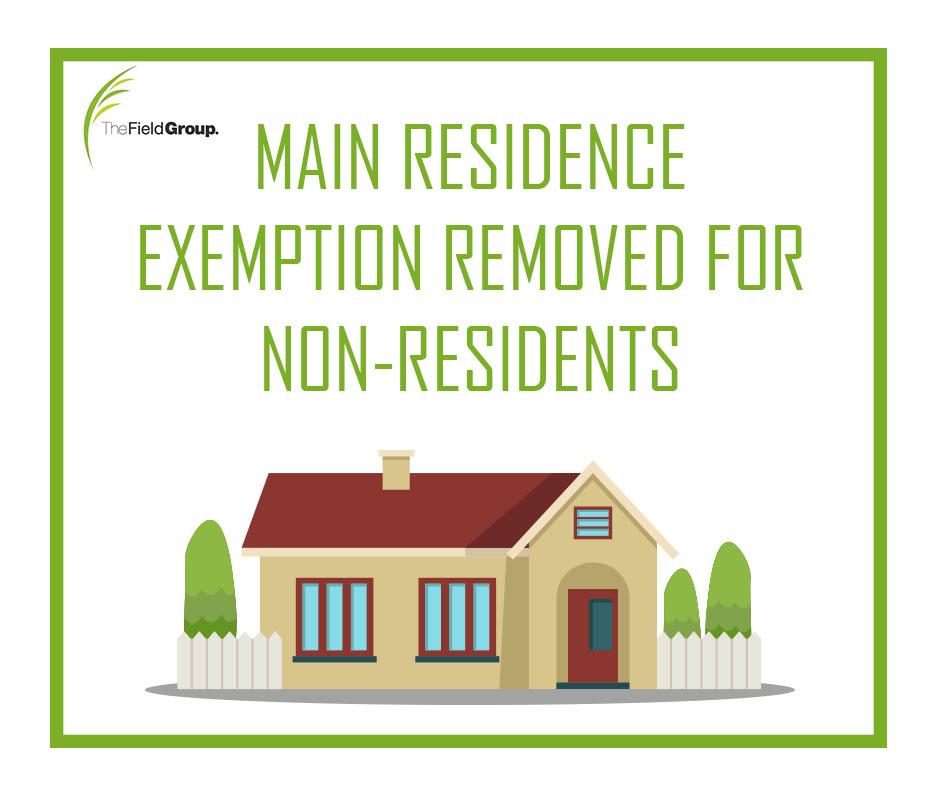 the field group accounting Main residence exemption