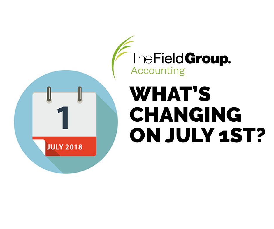What's changing on 1 July 2018?