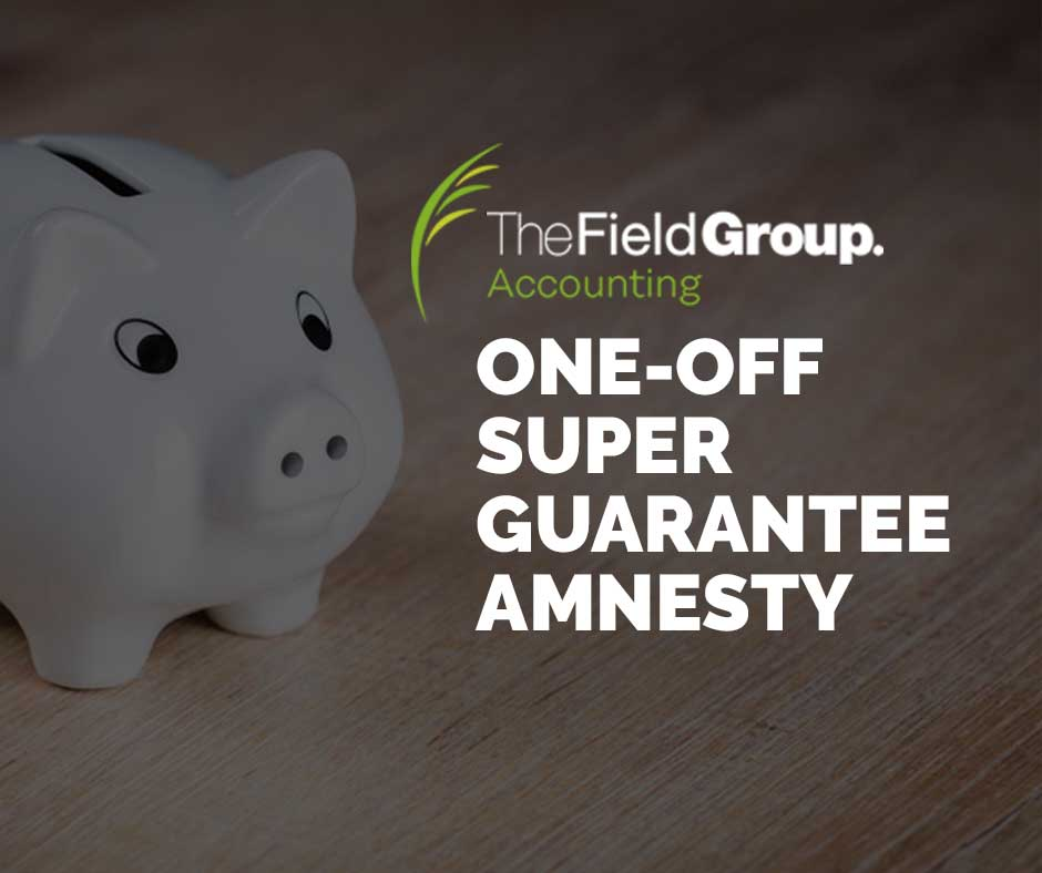 One-off Super Guarantee Amnesty